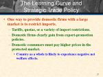 the learning curve and strategic trade policy1