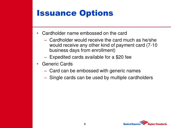 Issuance Options