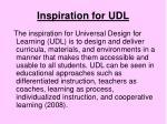 inspiration for udl