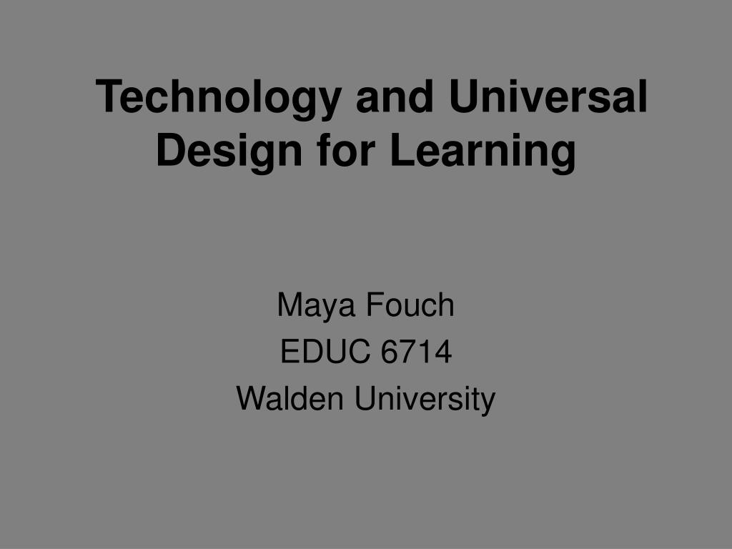 technology and universal design for learning l.