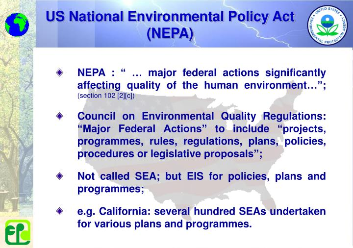 US National Environmental Policy Act (NEPA)