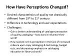 how have perceptions changed
