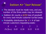 debbon air seat release