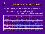 debbon air seat release2