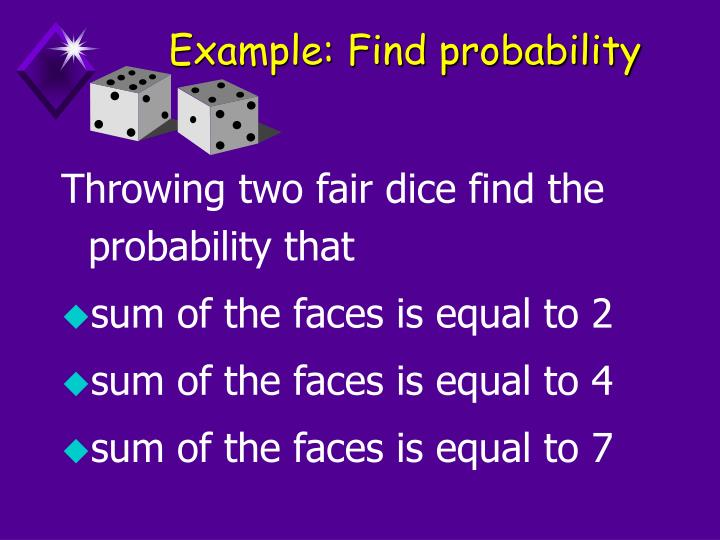 Example: Find probability