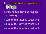 example find probability