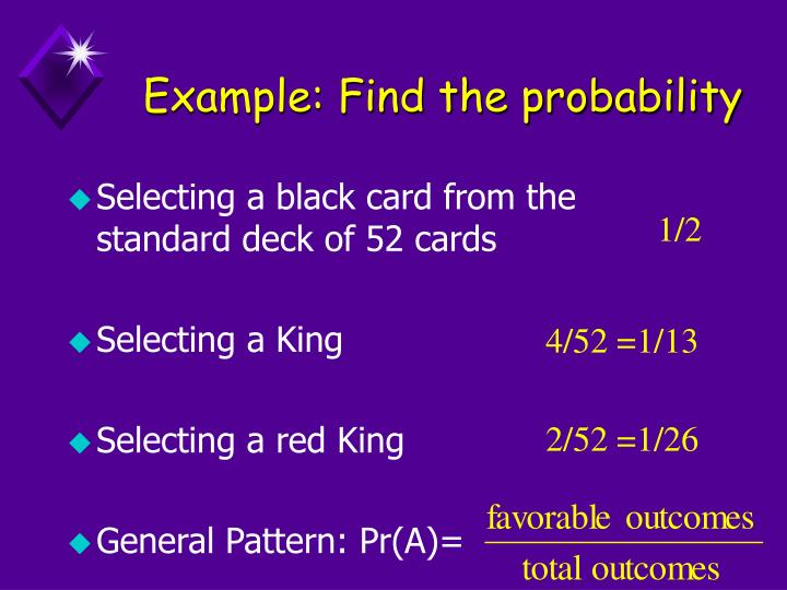 Example find the probability