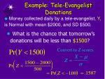 example tele evangelist donations