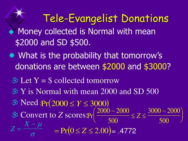 Tele-Evangelist Donations