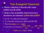 tele evangelist donations