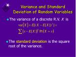 variance and standard deviation of random variables