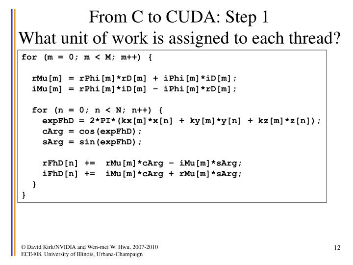 From C to CUDA: Step 1