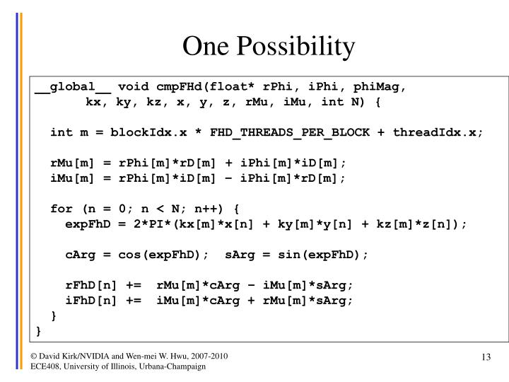 One Possibility