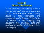 section iv director the fiduciary