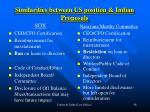 similarities between us position indian proposals