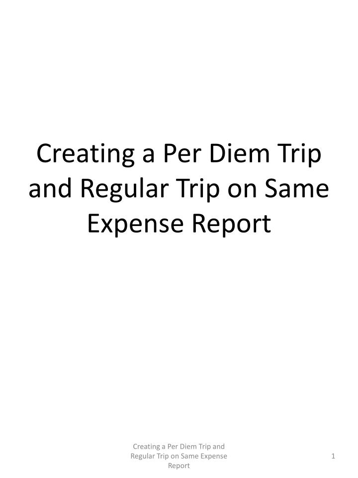 creating an expense report