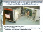 prototype brassboard locus loran card installed in rockwell collins multi mode receiver