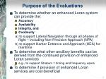 purpose of the evaluations
