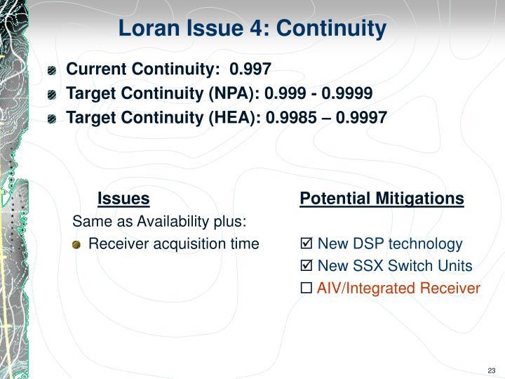 Loran Issue 4: Continuity