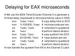 delaying for eax microseconds