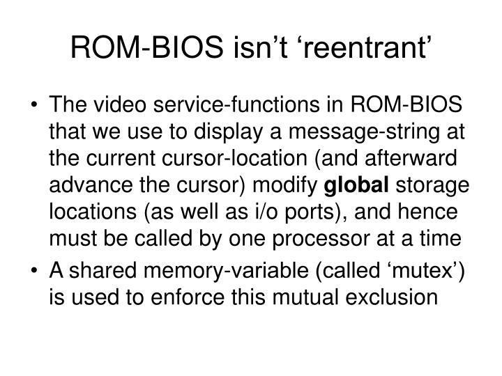 ROM-BIOS isn't 'reentrant'