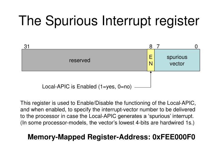 The Spurious Interrupt register