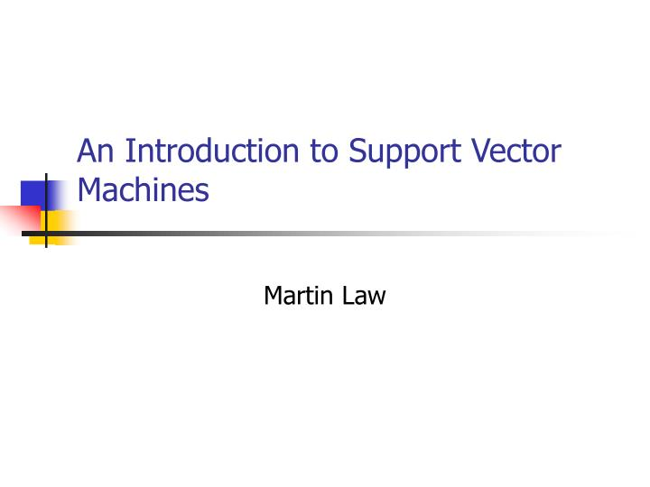an introduction to support vector machines n.