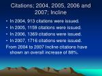 citations 2004 2005 2006 and 2007 incline