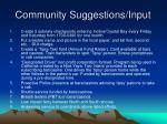 community suggestions input