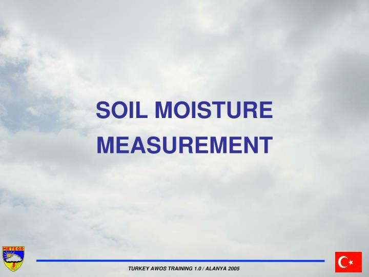 soil moisture measurement n.