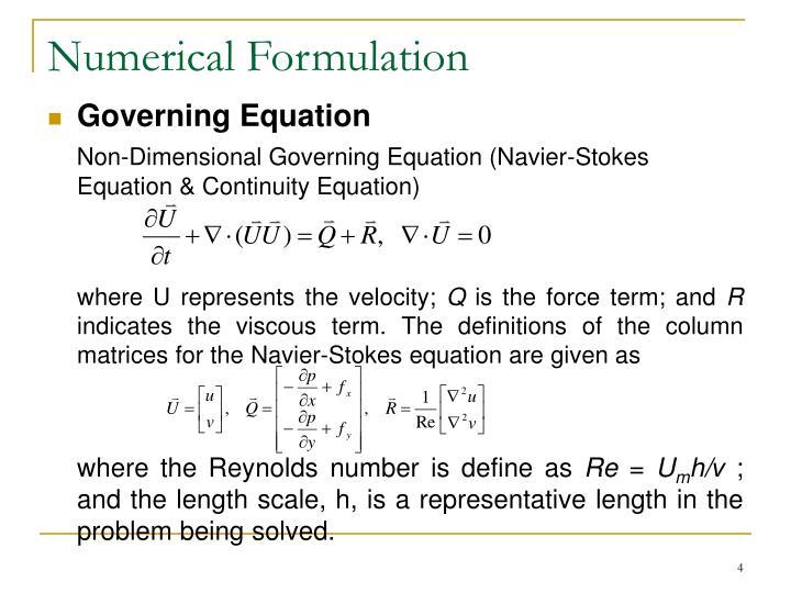 Numerical Formulation