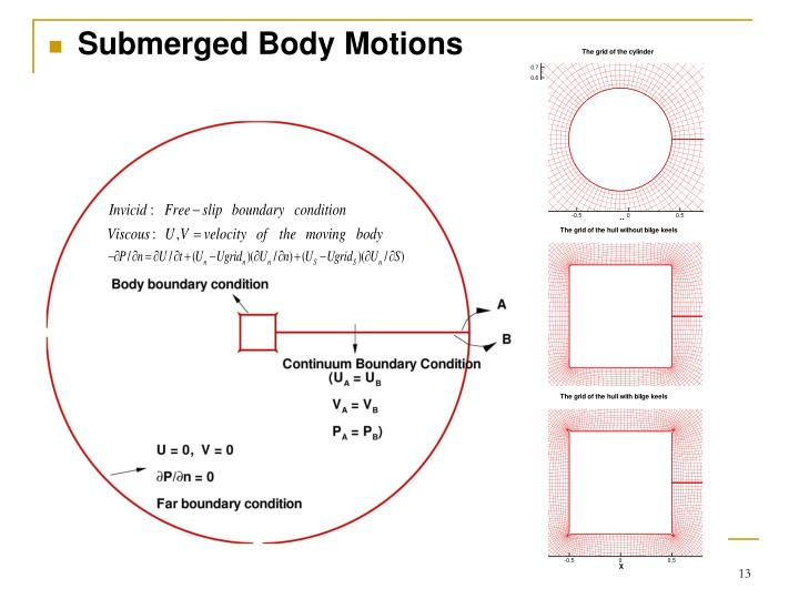 Submerged Body Motions