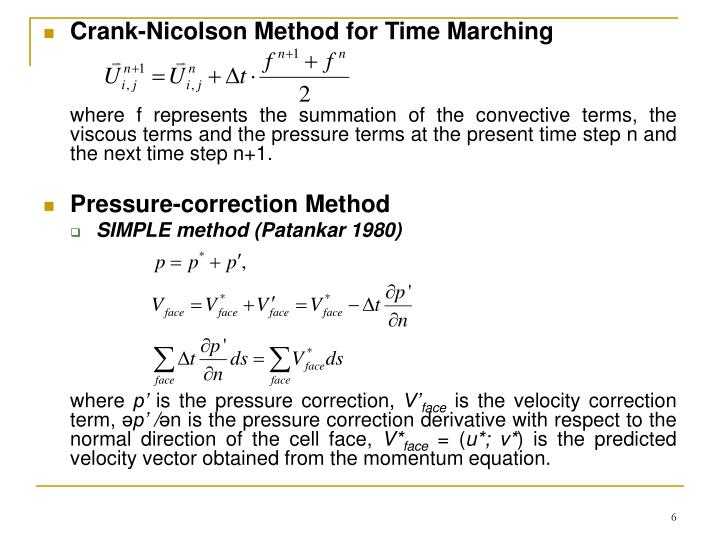 Crank-Nicolson Method for Time Marching
