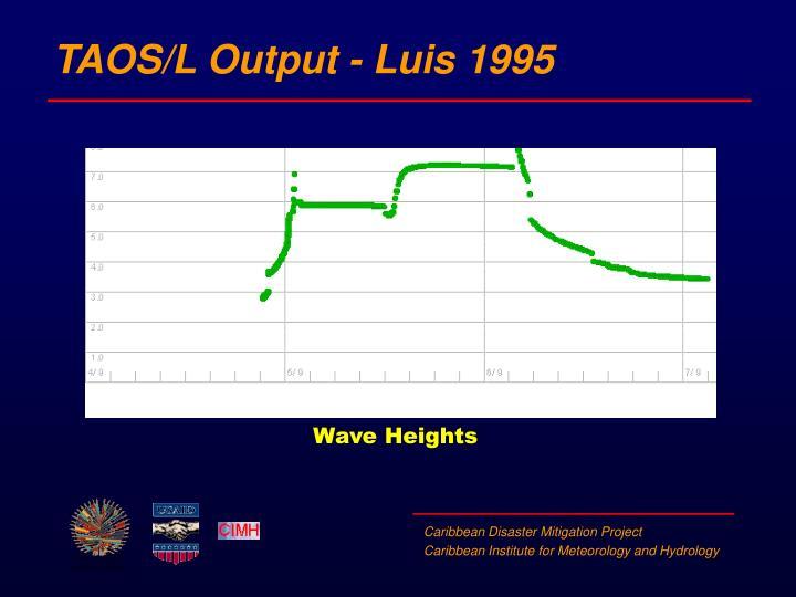 TAOS/L Output - Luis 1995