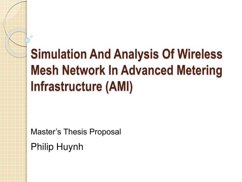 Latest Thesis Topics in Wireless Communication - PHD TOPIC