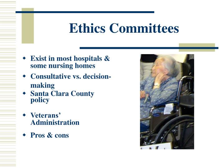 "pros and cons of health care ethics committees Health care organization ethics committees  brock, d w (1998) ""cloning  human beings: an assessment of the ethical issues pro and con,"" in clones and ."