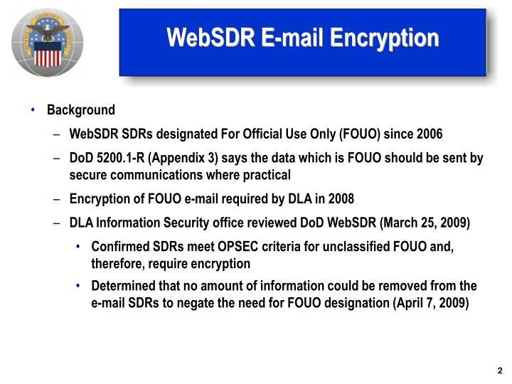 Websdr e mail encryption1