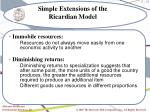 simple extensions of the ricardian model