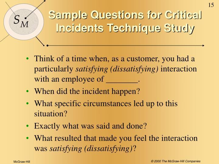 criticlal incident technique cit