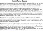 adult acne scars