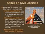 attack on civil liberties