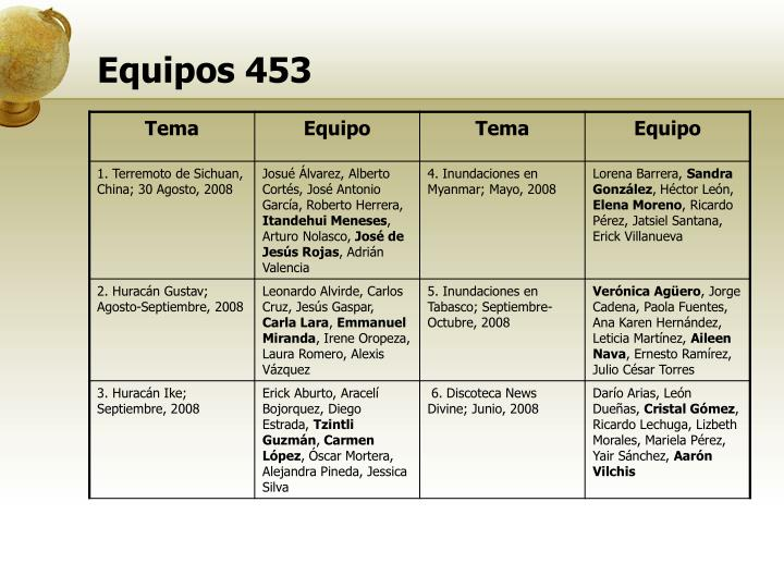 Equipos 453