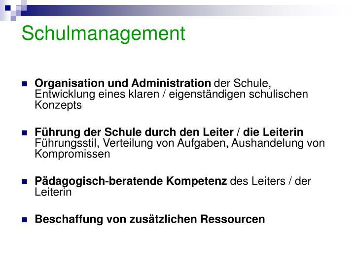 Schulmanagement