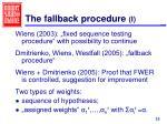 the fallback procedure i
