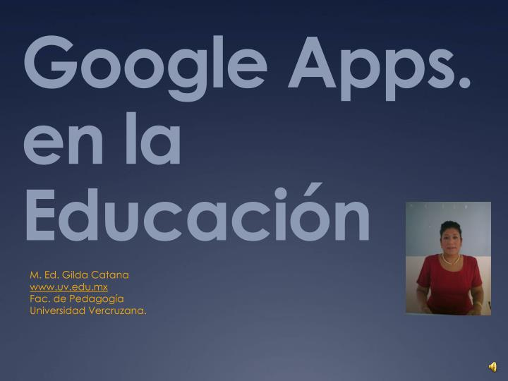 Google apps en la educaci n