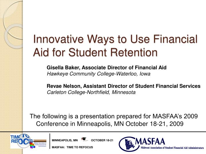 innovative ways to use financial aid for student retention n.