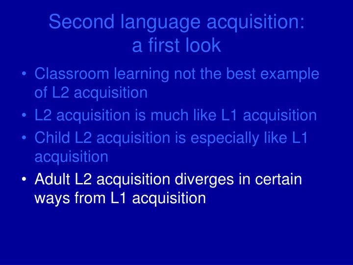 second language acquisition The department of second language studies at the university of hawai'i at mānoa is an internationally leading institution in its field.
