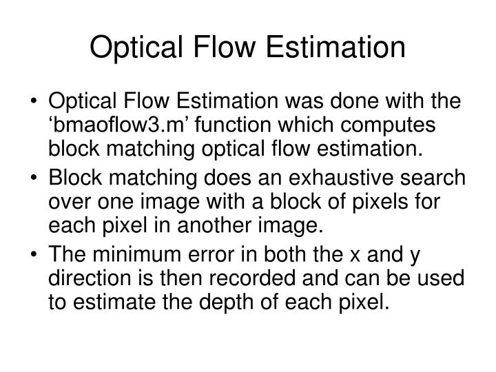 Optical Flow Estimation