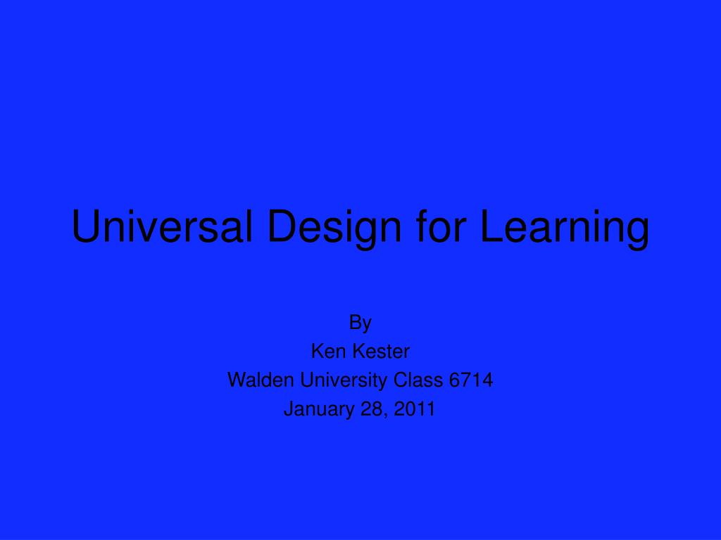 universal design for learning l.