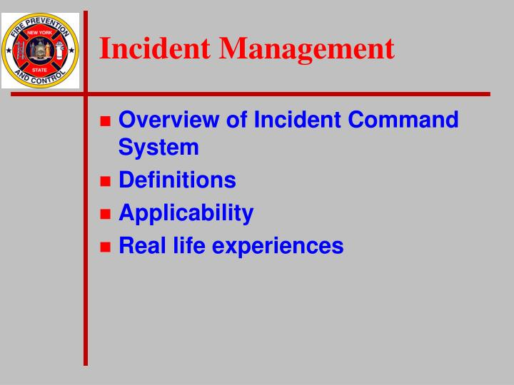 Incident management1
